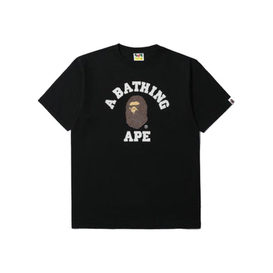 Bape College Tee-Black, Clothing- dollarflexclub