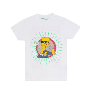 Off-White Bart Glasses T-Shirt -White, Clothing- dollarflexclub