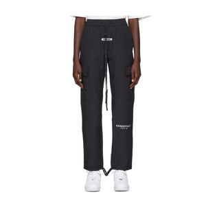 Fear of God Essentials Drawstring Cargo Pants -Black, Clothing- dollarflexclub