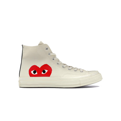 Converse Chuck Taylor All-Star 70s Hi x CDG PLAY -White, Shoe- dollarflexclub