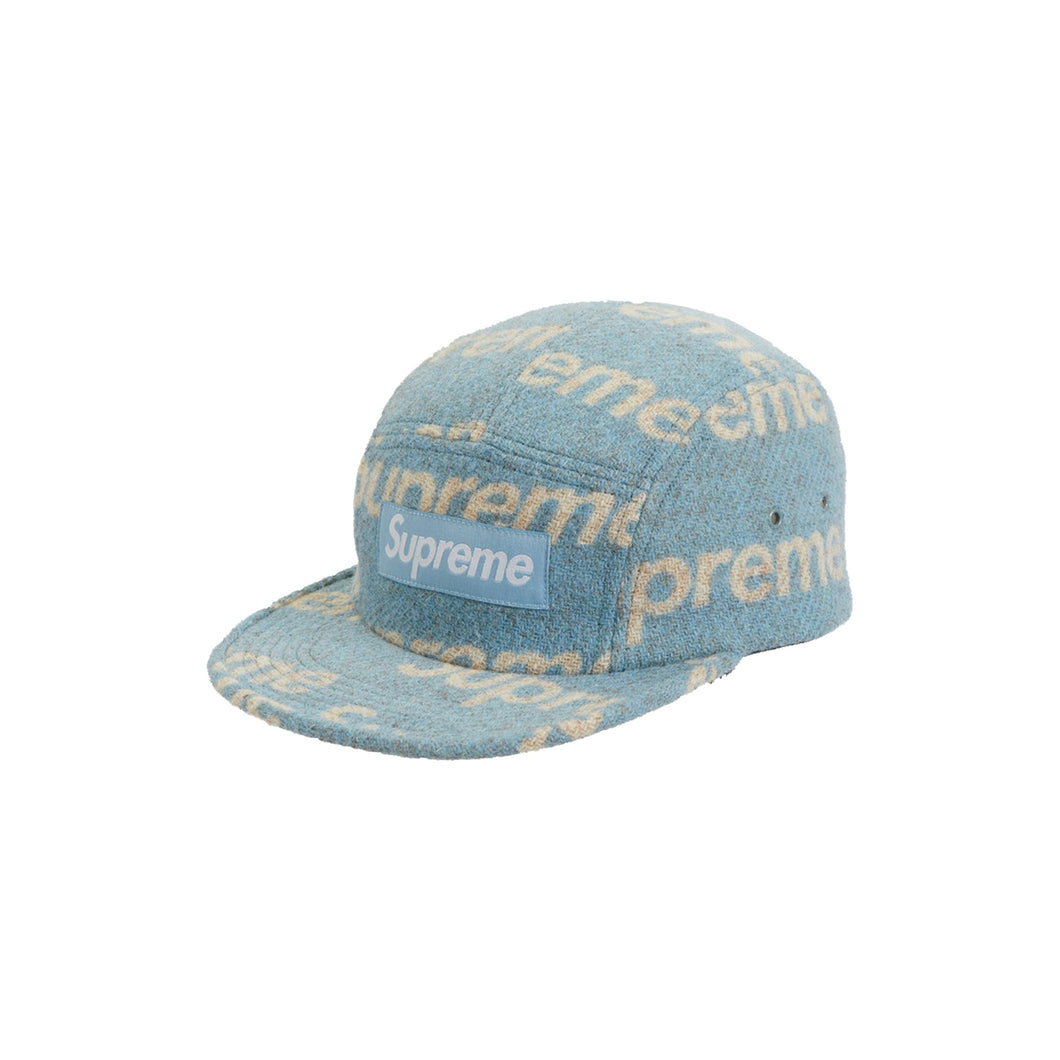 Supreme Harris Tweed Camp Cap -Light Blue, Accessories- dollarflexclub