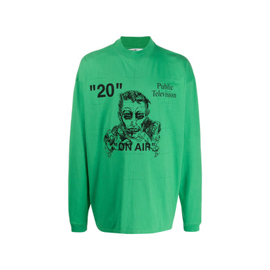 Off-white Public television Long Sleeve -Green, Clothing- dollarflexclub