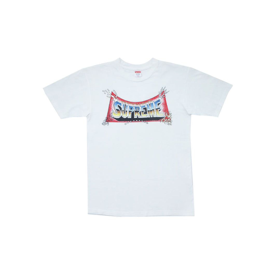 Supreme Pedro Bell Blockbuster Logo T Shirt, Clothing- dollarflexclub