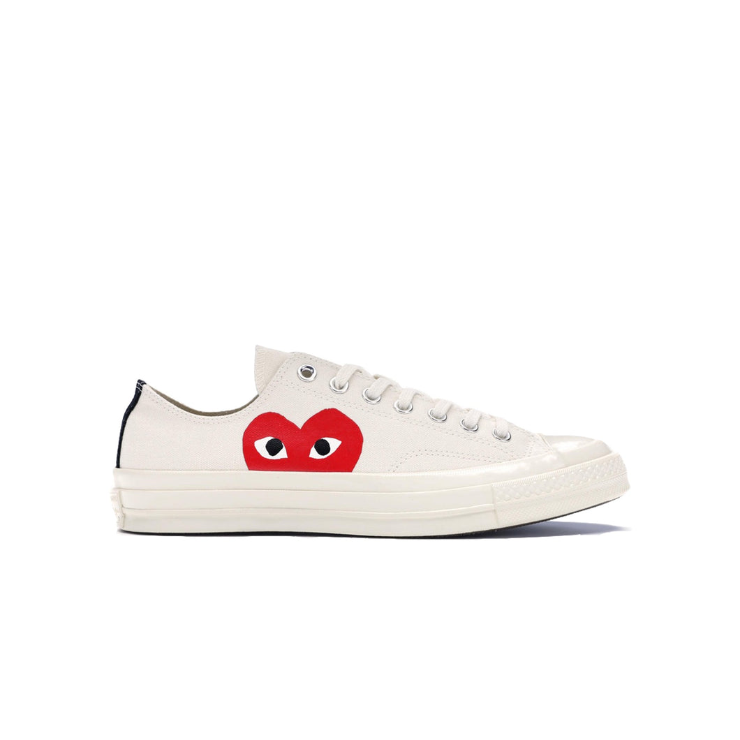 Converse Chuck Taylor All-Star 70s Ox CDG PLAY -White, Shoe- dollarflexclub