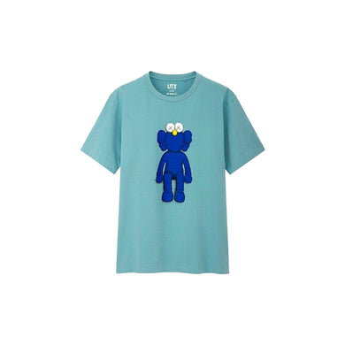 KAWS x Uniqlo Blue BFF Tee Green, Clothing- dollarflexclub