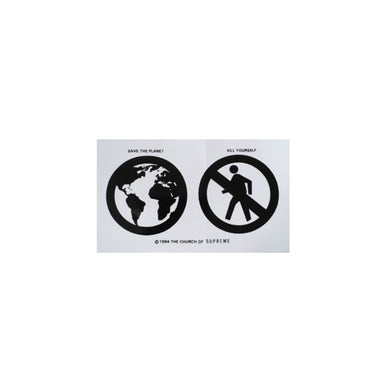 Save the planet BIG Sticker White, Sticker- dollarflexclub