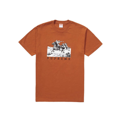 Supreme Riders Tee - Rust, Clothing- dollarflexclub