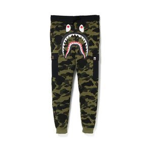BAPE 1st Camo Shark Slim Sweat Cargo Pants Green