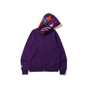 BAPE Shark Full Zip Hoodie Purple