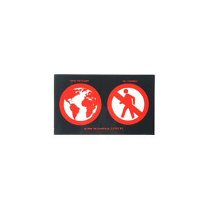 Save the planet BIG Sticker Black, Sticker- dollarflexclub