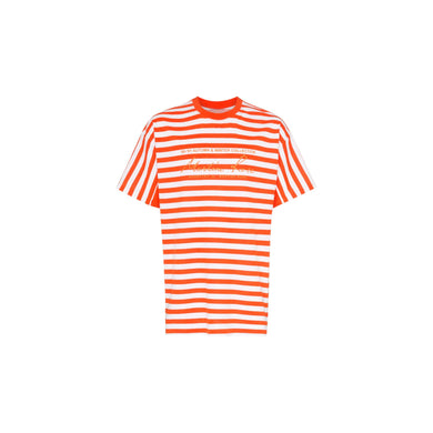 Martine Rose Orange Stripped Tee, Clothing- dollarflexclub