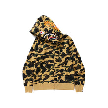 Load image into Gallery viewer, BAPE 1st Camo Shark Full Zip Hoodie Yellow, Clothing- dollarflexclub