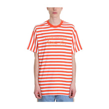Load image into Gallery viewer, Martine Rose Orange Stripped Tee, Clothing- dollarflexclub