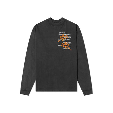 Off-White Pictogram Long Sleeve Tee, Clothing- dollarflexclub