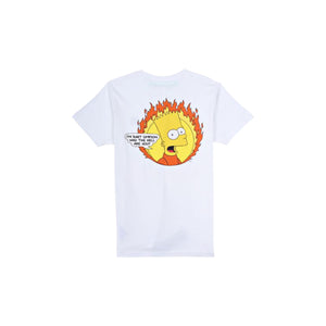 Off-White 'Teenager' Bart Simpson Tee-White, Clothing- dollarflexclub