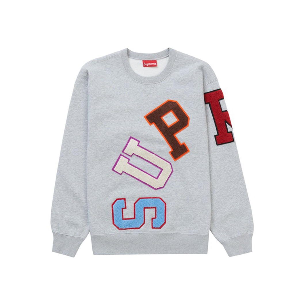 Supreme Big Arc Crewneck Heather Grey