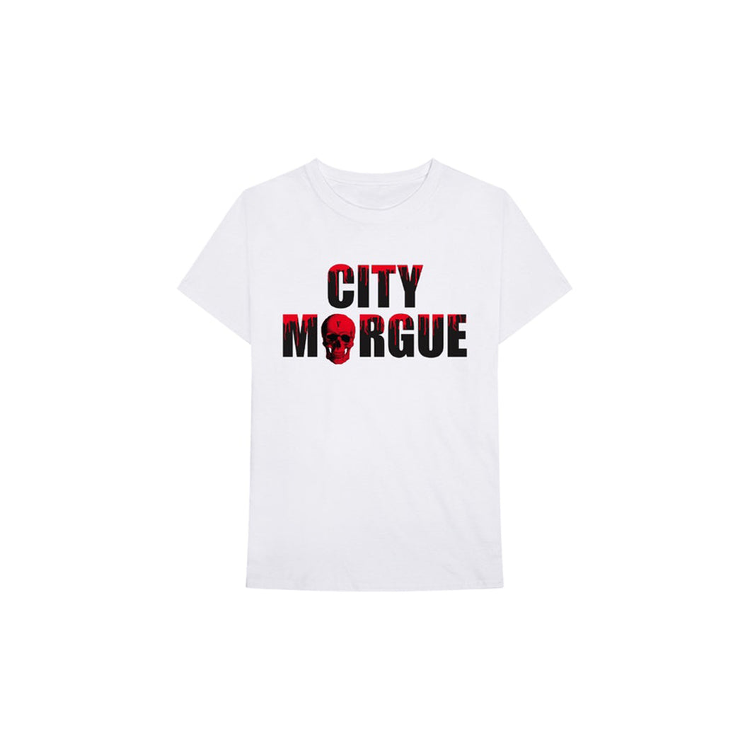 Vlone x City Morgue Dog Tee II (White), Clothing- dollarflexclub