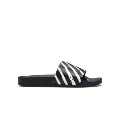 Off-White Spray Stripes Slider - Black&White, Shoe- dollarflexclub