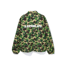 Load image into Gallery viewer, BAPE ABC Camo Relaxed Coach Jacket Green