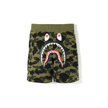 Load image into Gallery viewer, BAPE 1st Camo Shark Sweat Shorts Green