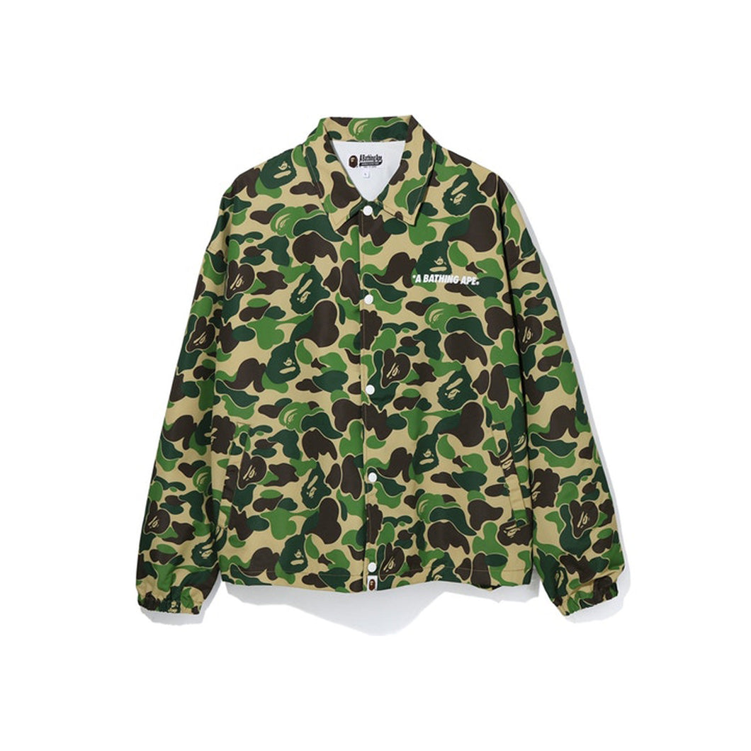 BAPE ABC Camo Relaxed Coach Jacket Green