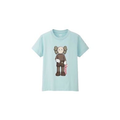 KAWS x Uniqlo Companion Tee (Kids) -Light Blue, Clothing- dollarflexclub