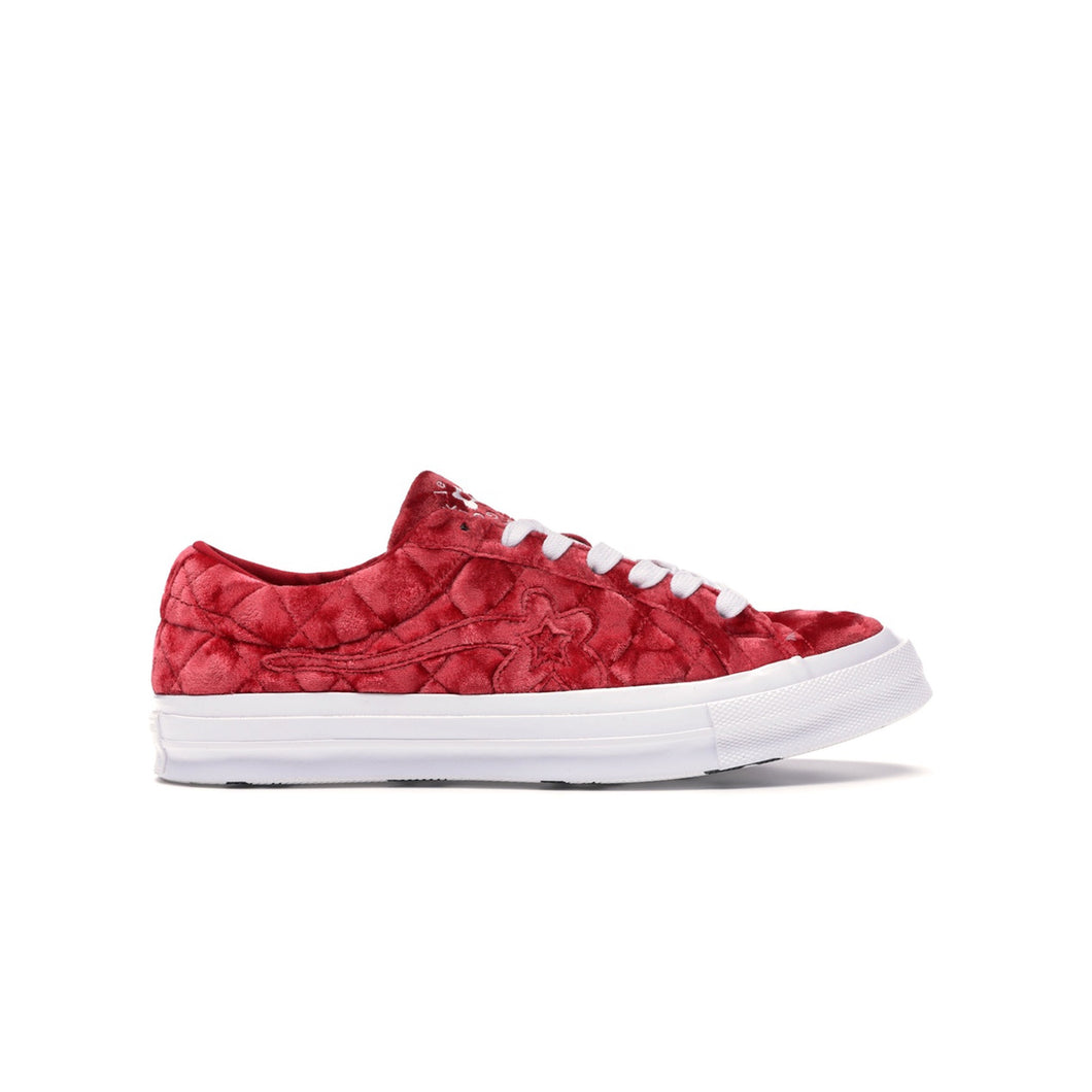 Converse One Star Ox Golf Le Fleur TTC Quilted Velvet Barbados Cherry, Shoe- dollarflexclub