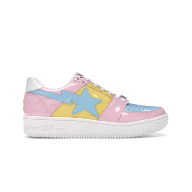 A Bathing Ape Bapesta Tri-Color Pink (Box damaged), Shoe- dollarflexclub
