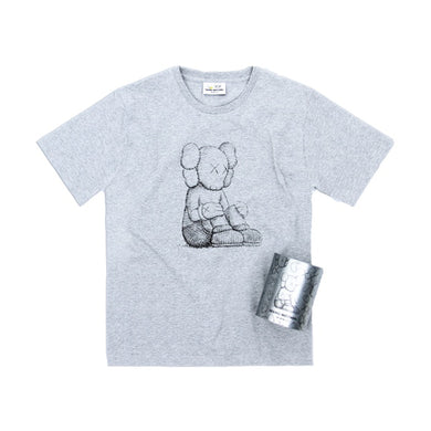 KAWS Seeing/Watching Companion Canned Tee -Grey, Clothing- dollarflexclub