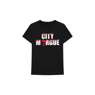 Vlone x City Morgue Drip Tee I (Black), Clothing- dollarflexclub