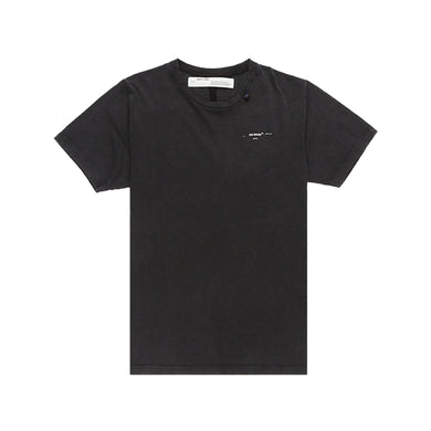 Off-White Abstract Arrows Embroidered T-Shirt -Black, Clothing- dollarflexclub