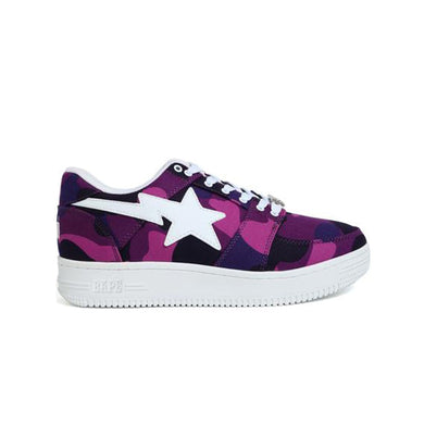 A Bathing Ape Bapesta Camo Purple, Shoe- dollarflexclub