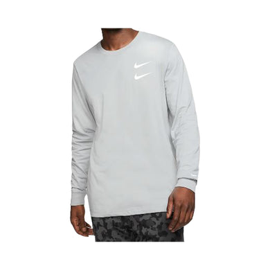 Nike L/S Swoosh T-Shirt-Grey, Clothing- dollarflexclub