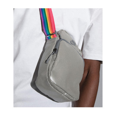 Nike 'Be True' Rainbow Silver Crossbody Shoulder Bag, Accessories- dollarflexclub