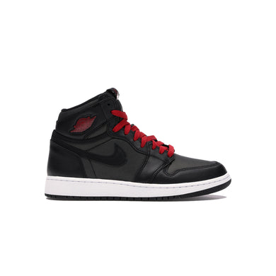 Jordan 1 Retro High Black Satin (GS), Shoe- dollarflexclub