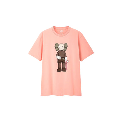 KAWS x Uniqlo Companion Tee Pink, Clothing- dollarflexclub