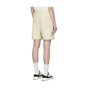 Fear of God Essentials Polar Fleece Sweat Shorts-Cream, Clothing- dollarflexclub