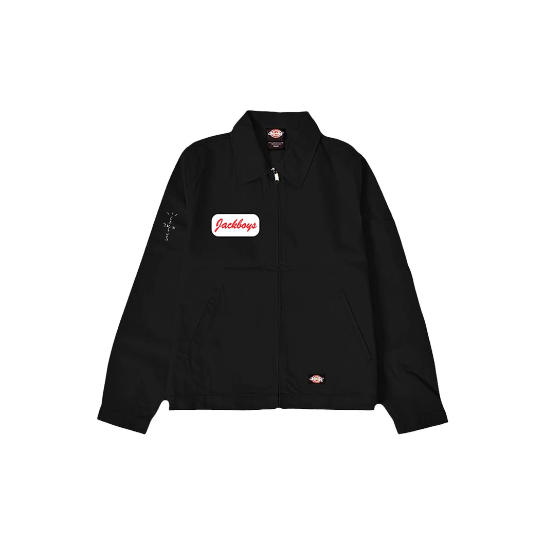 Travis Scott JACKBOYS Work Jacket Black, Clothing- dollarflexclub