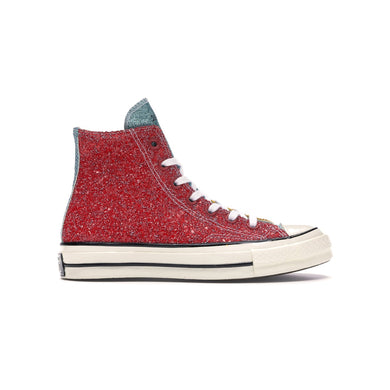Converse Chuck Taylor All-Star 70s Hi x JW Anderson Glitter Yellow Red, Shoe- dollarflexclub