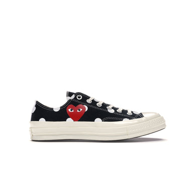 Converse Chuck Taylor All-Star 70s OX x CDG PLAY OX -Black Polka Dots, Shoe- dollarflexclub
