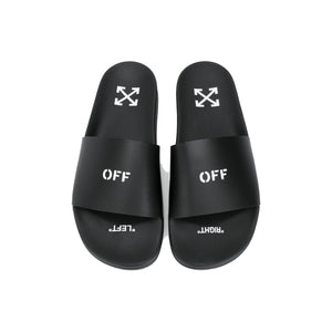 Off-White Stamp Slides -Black, Shoe- dollarflexclub