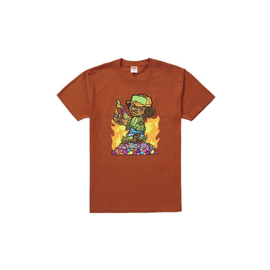 Supreme Molotov Kid Tee - Rust, Clothing- dollarflexclub