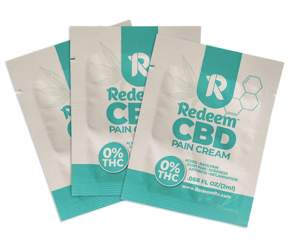 CBD Pain Cream Sample Pack (Pack of 3 - 2ml pouches)