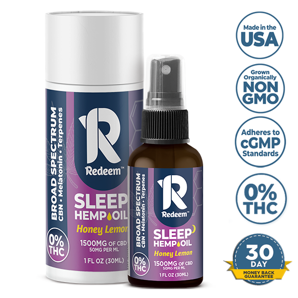 1500mg Broad-Spectrum CBD Oil Spray Sleep Formula (CBN + Melatonin)