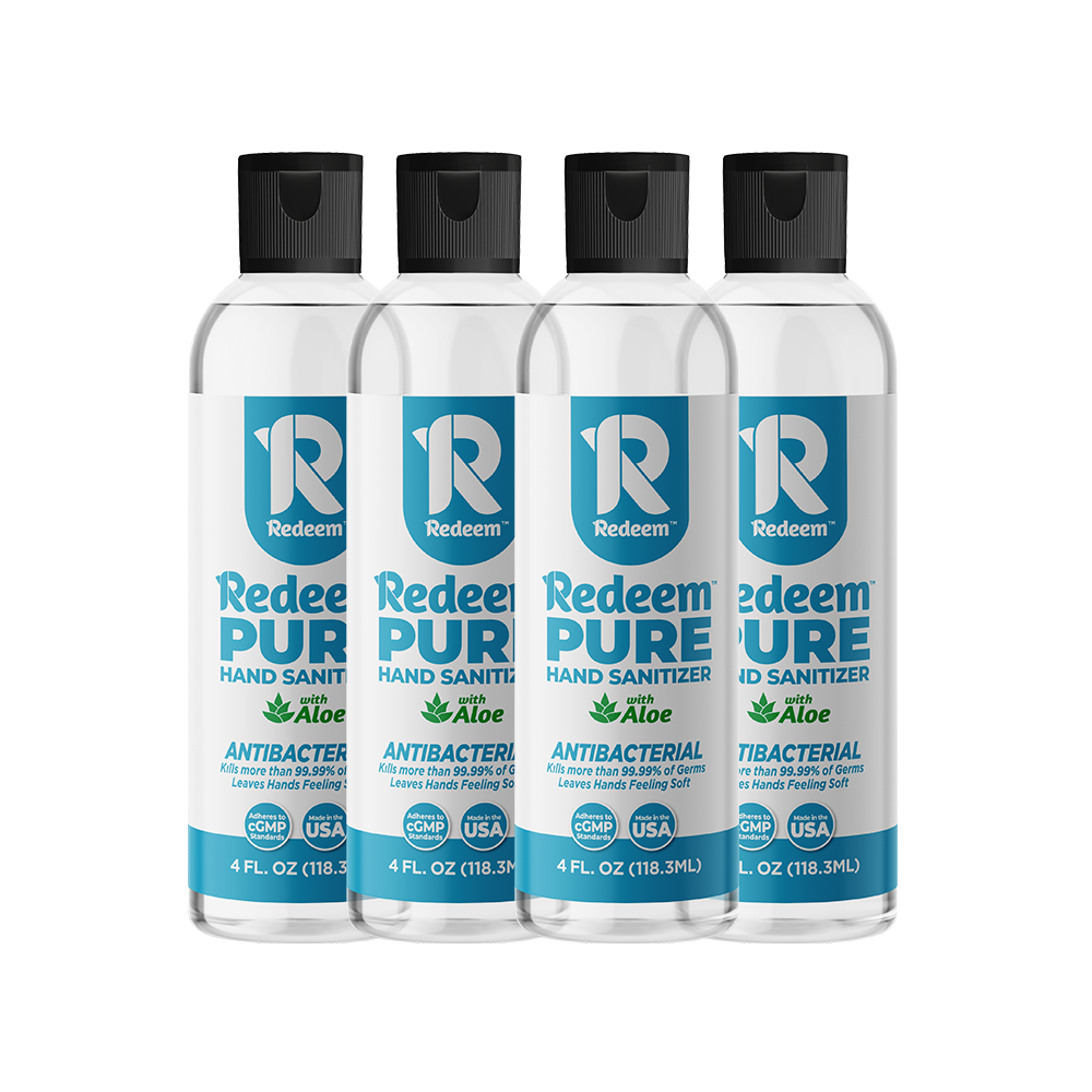 Pure Gel Hand Sanitizer 4-Pack