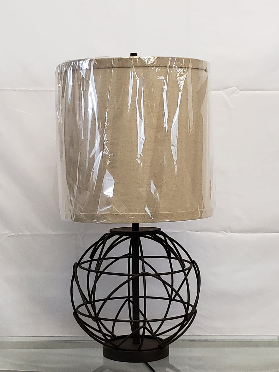 item #478: Alloy Globe table lamp
