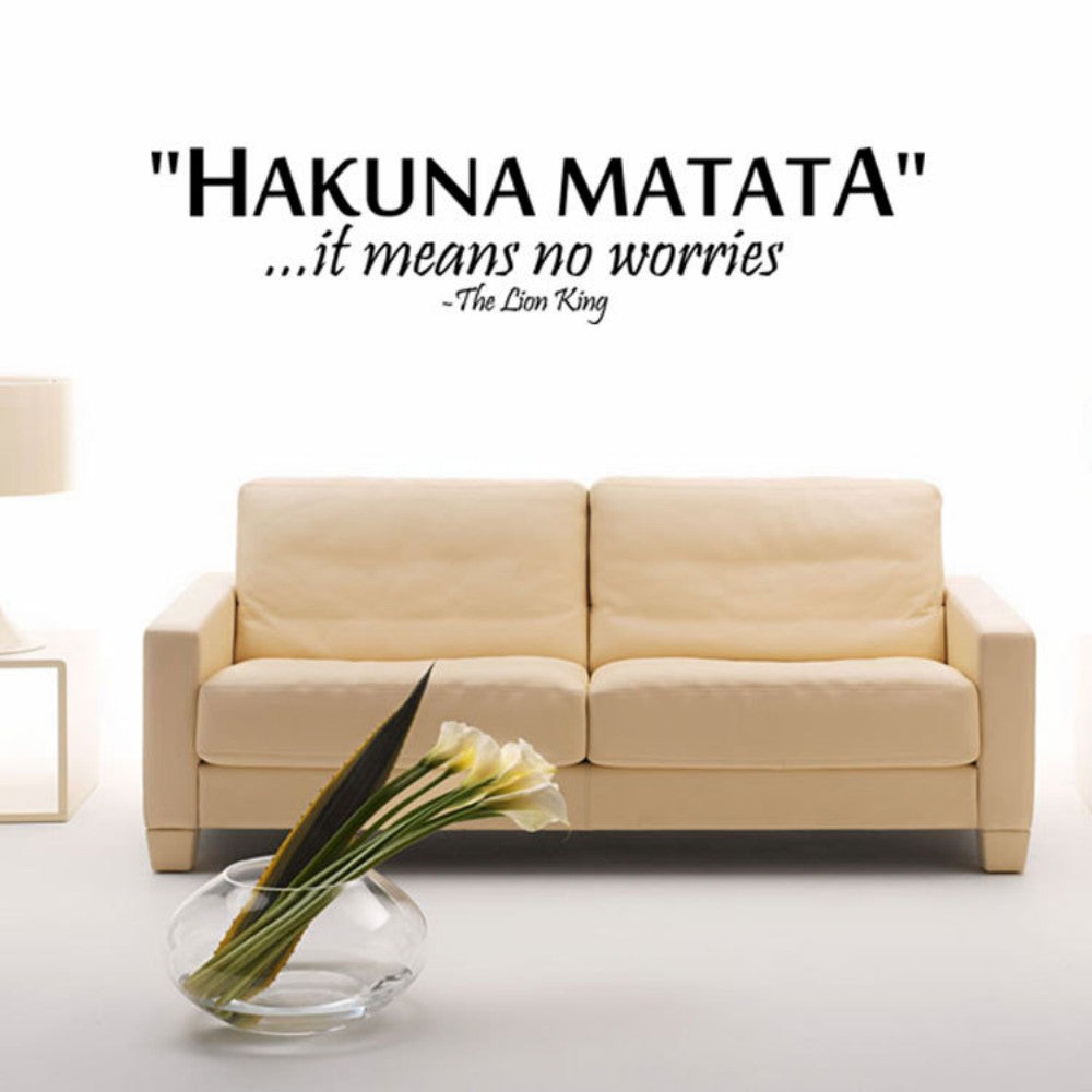 "Wall Decor -- Hakuna Matata"" from the Lion King Saying ..."