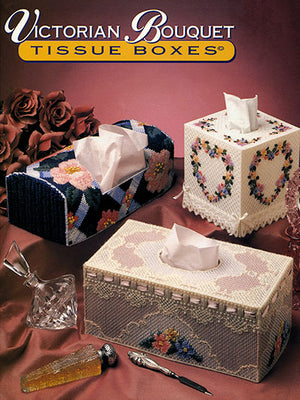 Victorian Bouquet Tissue Boxes Plastic Canvas Pattern