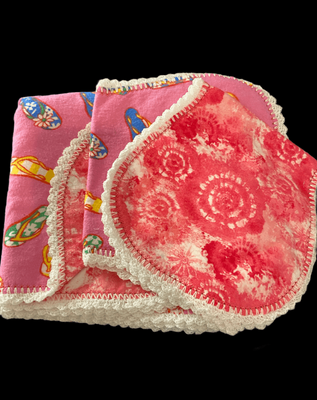 Blanket and 2 Burp Cloths