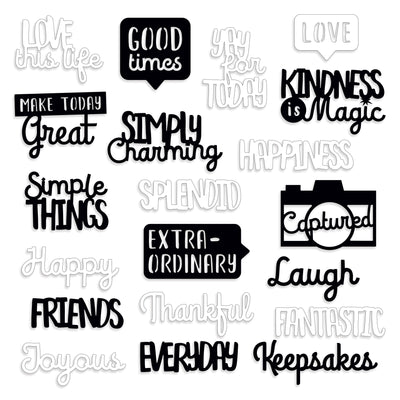 Creative Memories Loving Life Laser Cut Word Embellishments (20/pk)